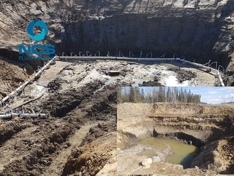 Well point dewatering before and after